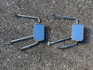Vintage Original Oem Ford Truck Outside Side Rear View Mirror Pair