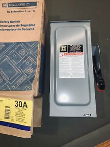 Square D 30 Amp Heavy Duty Safety Switch Hu361rb 3r Enclosure 600v Non Fused Nib