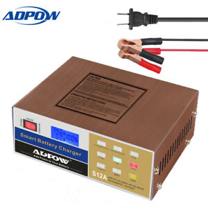 Car Battery Charger 12v 24v 10a Pulse Repair For Boat Marine Deep Cycle Battery