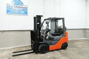 2017 Toyota 8fgcu25 5 000 Cushion Tire Forklift Triple Sideshift 214 Hrs