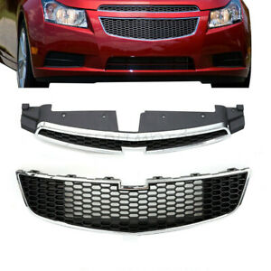 Front Bumper Upper Lower Grille Grill Fit For Chevy Cruze 2011 2012 2013 2014