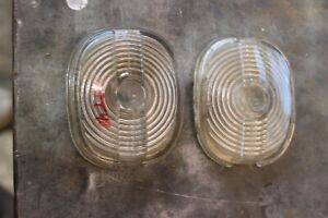 1949 Mercury Nors Parking Light Lenses Pair br