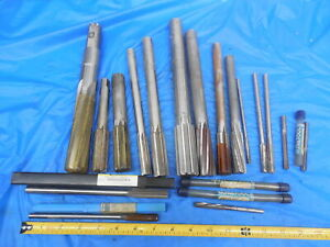 Large Lot Of Hss Reamers For Bridgeport Or Other Mill Southbend Or Other Lathe
