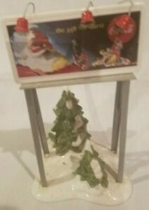 Dept 56 Snow Village Coca Cola Billboard Accessory