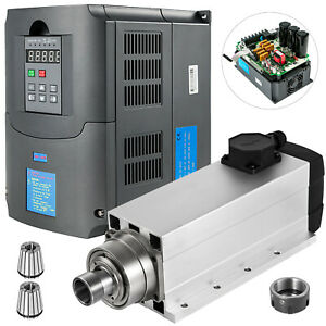 7 5kw Er32 Air Cooled Spindle Motor 7 5kw Variable Frequency Drive Inverter Vfd
