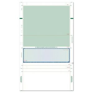 8 1 2 X 14 Ez Fold Check Prismatic Blue Green High Security box Of 2000