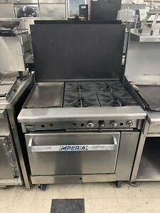 Imperial Range 4burners 12 Flat Top And Oven