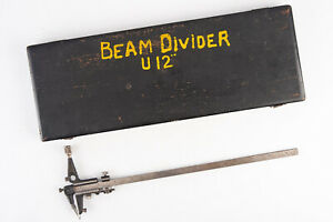 Antique Beam Divider Tool Made In Germany With Original Wooden Case V19