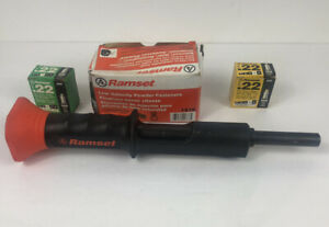 Ramset Hammer Shot 0 22 Caliber Powder Actuated Tool Concrete brick wood steel