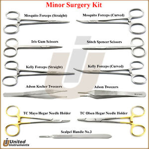 Minor Surgery Kit Surgical Dissection Tools Veterinary Dissecting Instruments