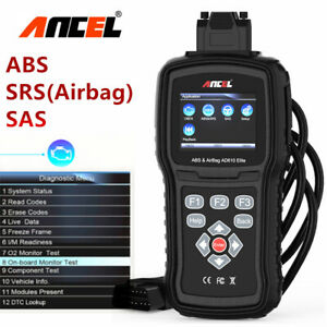 Ancel Ad610 Abs Srs Airbag Diagnostic Scan Tool Obd2 Car Engine System Scanner