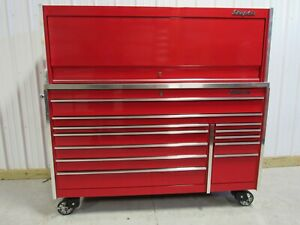 Snap On Candy Apple Red Krl1032 Tool Box Stainless Steel Top Led Light Hutch