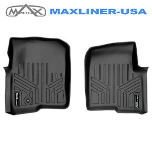 Smartliner Custom Fit Floor Mats Liners 1st Row Black 04 08 Ford F 150 mark Lt