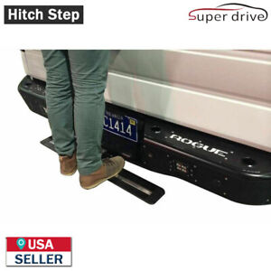 Hitch Step Bumper Guard For 2 Receiver 35 Black Painted Aluminium Truck Suv