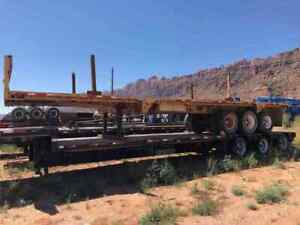 1983 Theur 3 Axel Float Flatbed Trailer