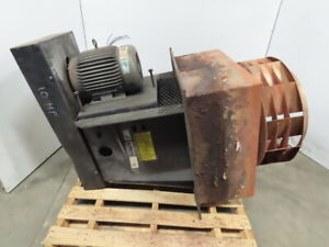 Heat Exhaust Fan blower 10hp Belt Driven 27 Stainless Steel Fan 30x30 Plug 3ph