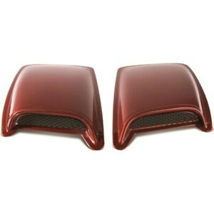 80002 Ventshade Set Of 2 Hood Scoops New Black For Honda Accord Jeep Ranger Pair