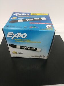 Expo Dry Erase Markers White Board Chisel Point Assorted Colors 36 pack