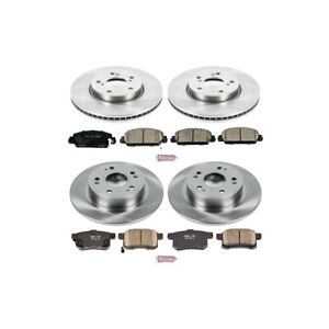 Koe6516 Powerstop Brake Disc And Pad Kits 4 wheel Set Front Rear New Coupe