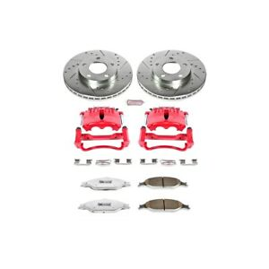 Kc1301 26 Powerstop Brake Disc And Caliper Kits 2 wheel Set Front For Mustang