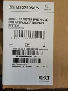 Kci 300ml Canister with Gel For Activ a c Therapy System Sealed Box Of 5