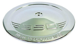 Chrome Stamped Steel 350 Logo 14 Round Air Cleaner Top Lid Only Chevy Sbc