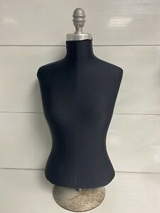 Vintage Female Torso stand Half Body Pinnable Black Cover Included