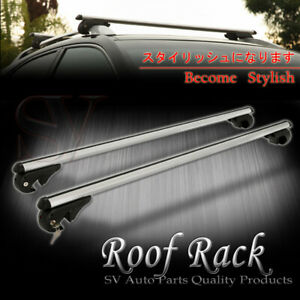 Fit Jeep Roof Rack Key Lock Cross Bar Top Rail Mount Aluminum Cargo Carrier