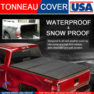 Fits 2009 2018 Dodge Ram 1500 6 5ft Bed Solid Hard Tri Fold Tonneau Cover Bed