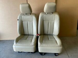 2015 Ford Expedition Front Leather Bucket Seats Dune In Color Heat Cooled