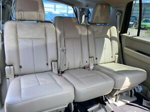 2015 Ford Expedition Rear Second Row Leather Seats With Heat Dune In Color