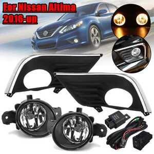 Set For Nissan Altima 2016 17 2018 Front Bumper Fog Light Switch Wiring Harness