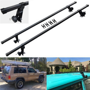 Sr1001 56 Roof Rack System For Vehicles Rain Gutters 130 Lb Capacity