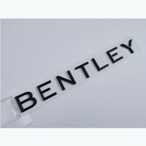 Bentley Continental Gt Badge Script Emblem Rear Bright Black Brand New 1pc