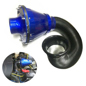 3 76mm Universal Air Power Intake Filter Car High Flow Cold Air Inlet Cleaner
