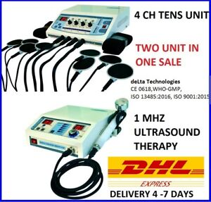 Combo Offer Ultrasound 1mhz Electrotherapy 4 Channel Physical Therapy Machine