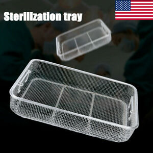 15 75 11 8 2 75 Stainless Steel 304 Sterilization Instrument Tray Basket