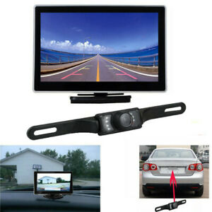 New Car License Plate Frame Rear View Reverse Backup Camera Kit Night Vision Usa