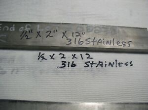 Stainless Steel Flat Stock 1 Pc 1 2 X 2 X 12 316 Stainless Medical Grade