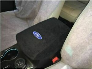 Console Cover With Ford Logo Black W blue Lettering Fits Escape 2017 2020