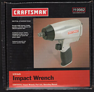 Craftsman 1 2 Drive Air Pneumatic Impact Wrench 9 19982 340 Ft Lbs New 19982
