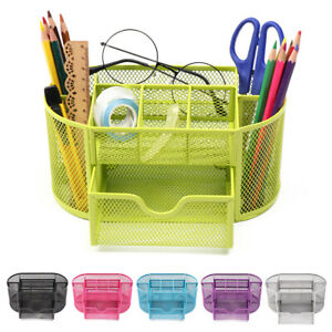 Multi functional Stationery Container Pen Holder Storage Box Desk Organizer