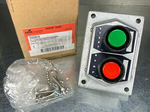 Cooper Crouse Hinds Dsd 922 Explosion Proof 2 Push Button Start Stop Switch