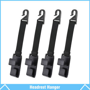 4pcs Car Seat Truck Coat Hook Purse Bag Hanging Hanger Auto Bag Organizer Holder
