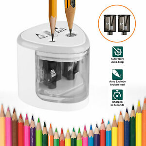 Automatic Electric Touch Switch 2 Holes Pencil Sharpener For Office School Tool