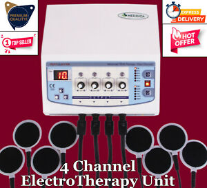 Professional Use 4 Ch Electrotherapy Machine Physiotherapy Digital Display Unit