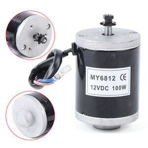 High Speed Controller Motor 12v 100w Dc Electric Motor Kit Small Brush Motor