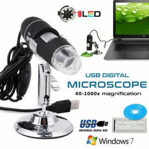 1000x Magnification Usb Digital Microscope Otg Endoscope 8 led With Stand