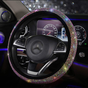 Bling Bling Steering Wheel Cover With Crystal Rhinestones Diamond Universal Fit