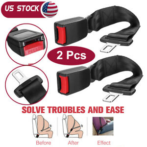 15 Car Seat Seatbelt Safety Belt Extender Extension Adjustable Buckle Universl